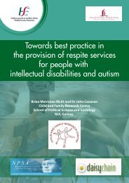 Towards best practice in the provision of respite services for people ...