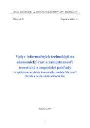 Vplyv informačných technológií na ekonomický rast a ... - Menbere