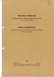 Staudamm Mattmark Digue de Mattmark