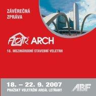ZÁVĚREČNÁ ZPRÁVA - For Arch