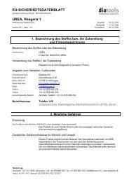 EU-SICHERHEITSDATENBLATT UREA, Reagenz 1 - diatools AG