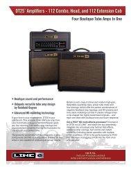 Download the DT 25 Spec Sheet - Line 6