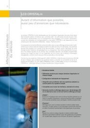 Affichages intérieurs du véhicule - contact@epi-groupe.com