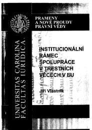 Institucionální rámec spolupráce v trestních věcech v EU