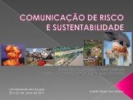 Comunicação de risco - CITA-A - Universidade dos Açores