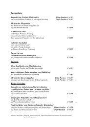 Speisekarte Gewölberestaurant.pdf - Schlosshotel Klaffenbach