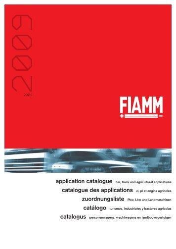 catalogue des applications vl, pl et engins agricoles