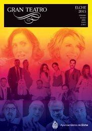 Programación del Gran Teatro Elche 2015 febrero-junio