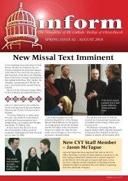 Inform 82.pdf - Catholic Diocese of Christchurch
