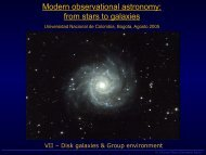 from stars to galaxies - Observatorio Astronómico Nacional ...