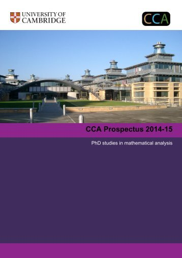 Download the 2014 course prospectus - Faculty of Mathematics ...