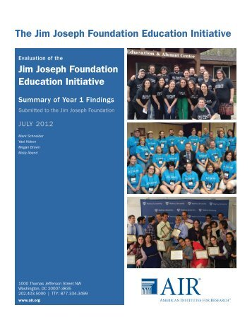 Executive Summary - Jim Joseph Foundation