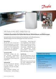 VX Solo II H2 (ECL 300/C62-3) Indirekte Hausstation für ... - Danfoss