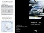 Mercedes-Benz Sprinter Prepaid Maintenance - TheSprinter.ca