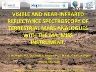 4) Ma_Miss Breadboard – Mars analogues VNIR spectroscopy