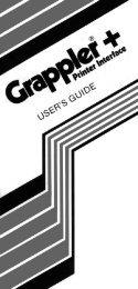 Grappler+ Printer Interface User's Guide
