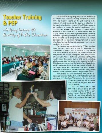The Teacher Training Program - Rotary Club of Makati