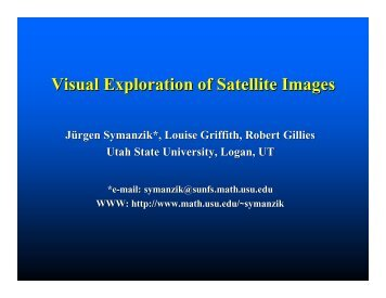 Visual Exploration of Satellite Images - Utah State University
