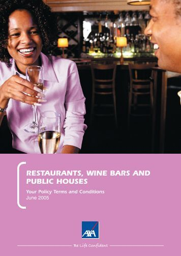 Pubs and Wine Bars full policy document (PDF - Business banking