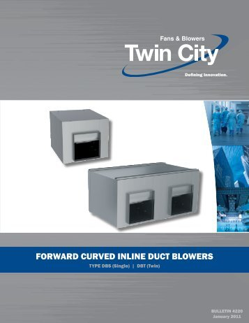 Forward Curved Inline Duct Blowers - Twin City Fan & Blower