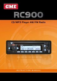 CD/MP3 Player AM/FM Radio - GME