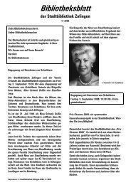 Bibliotheksblatt 04/2008 (PDF) - Zofingen