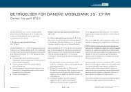 Betingelser for Danske Mobilbank 15-17 år - Danske Bank