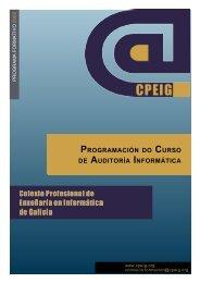Programación do Curso de Auditoría Informática - Colexio ...