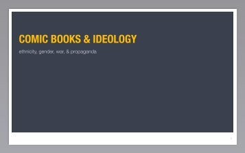 comic books & ideology - MSU Dept of History