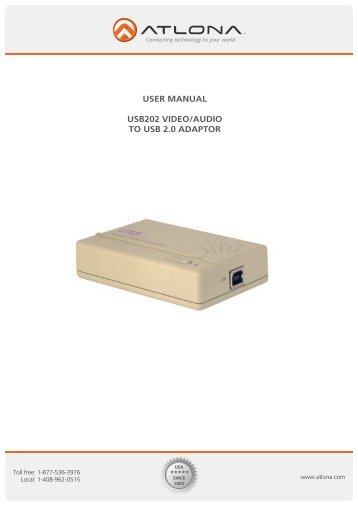 user manual usb202 video/audio to usb 2.0 adaptor - Aventum