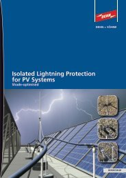 Isolated Lightning Protection for PV Systems Shade-optimised