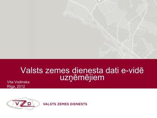 Valsts zemes dienesta dati e-vidē - LIKTA