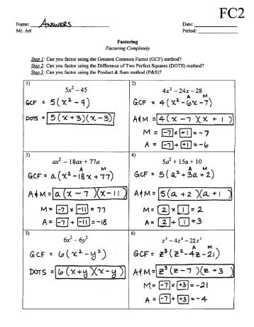 Worksheets Factoring Trinomials Of The Form Ax2 Bx C Worksheet Answers factoring trinomials of the form ax2 bx c worksheet answers answers