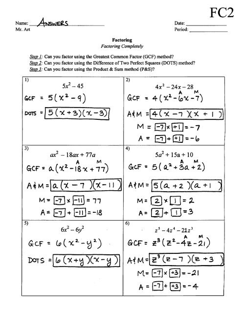 Factoring Completely   Worksheet   FC2   Answers.pdf