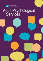 to find out more about our Adult Psychological Services