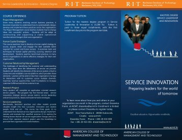 ACMT Svc Innovation Brochure FINAL.pdf - American College of ...