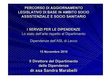 slide Sandra Marabelli - Osservatorio per le Politiche Sociali della ...