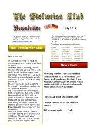 Die Praesidenten Ecke News Flash - German-American Club of ...