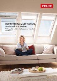 VELUX Dachfenster für Modernisierung, Austausch und Neubau ...