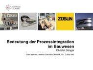 Bedeutung der Prozessintegration im Bauwesen - Mefisto