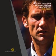2008-09 SAFC Annual Report (.pdf 65kb) - South Australian Film ...