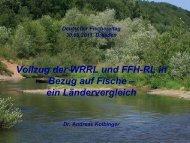 Vollzug der WRRL und FFH-RL in Bezug auf Fische – ein ...