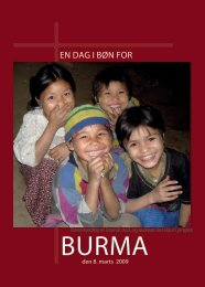 En dag i bøn for - Christians Concerned for Burma