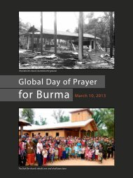 10 March, 2013 - Christians Concerned for Burma