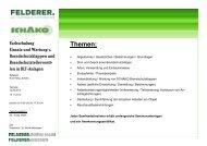 Einladung Schulungen Schako 2013 - Felderer