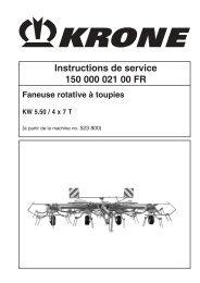 Instructions de service 150 000 021 00 FR