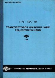 EMG 1384 TRANZISZTOROS MIKROHULLAMÚ ...