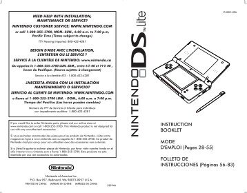 INSTRUCTION BOOKLET MODE D'EMPLOI (Pages 28-55 - Nintendo