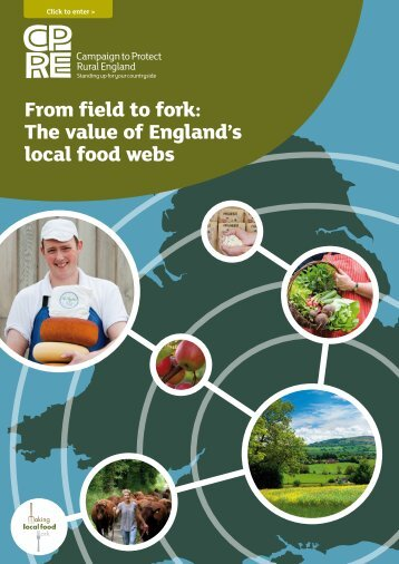 From field to fork: The value of England's local food webs