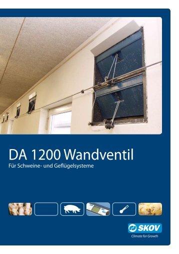DA 1200 Wandventil - Skov A/S